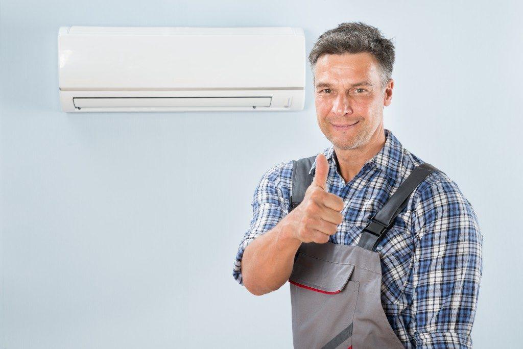 repairing an air conditioner