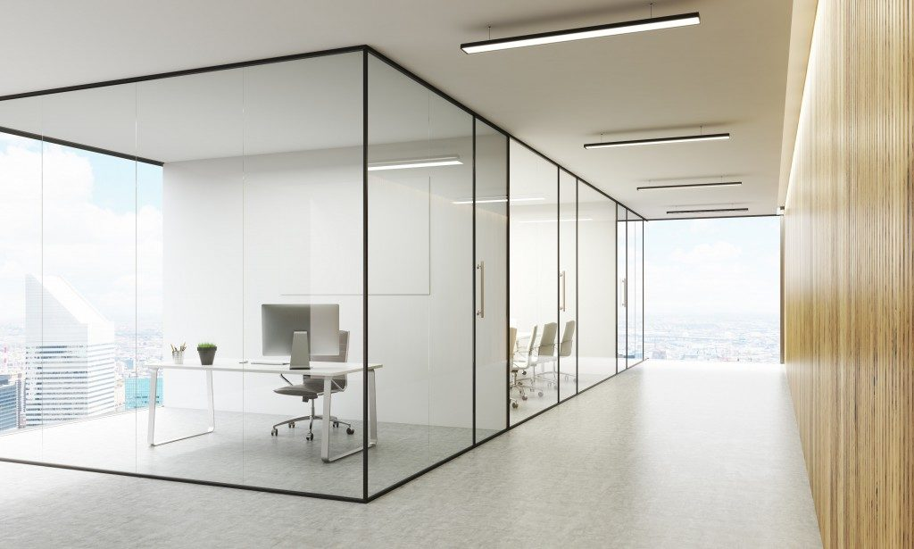 offices with sliding glass doors