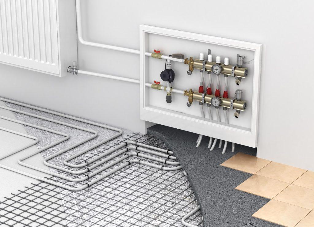 Underfloor radiant heating system