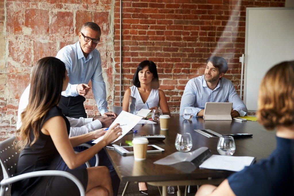 Entrepreneur in a meeting