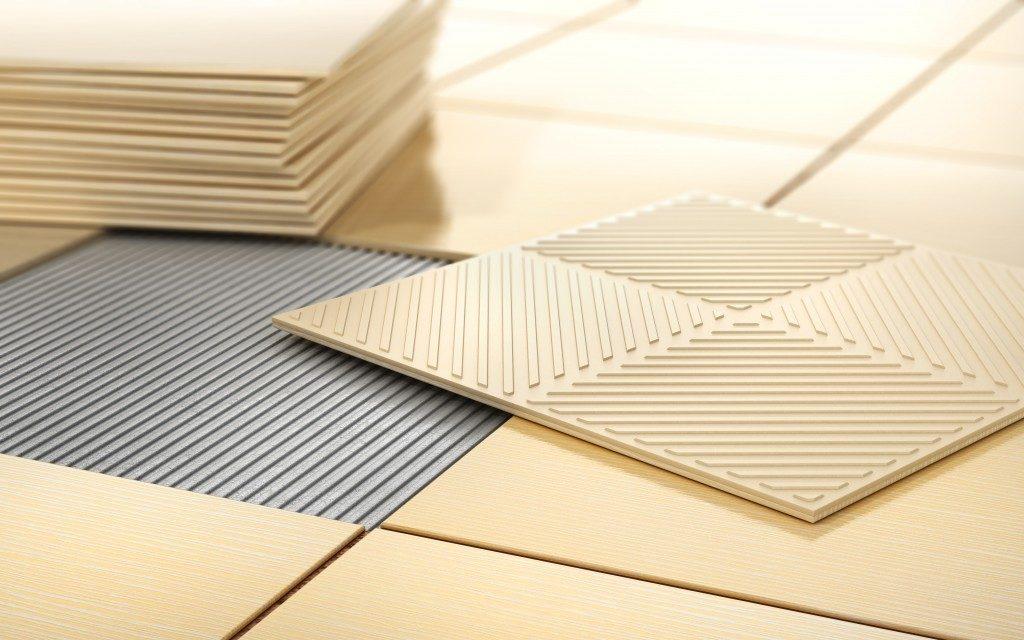 Stacks of tiles