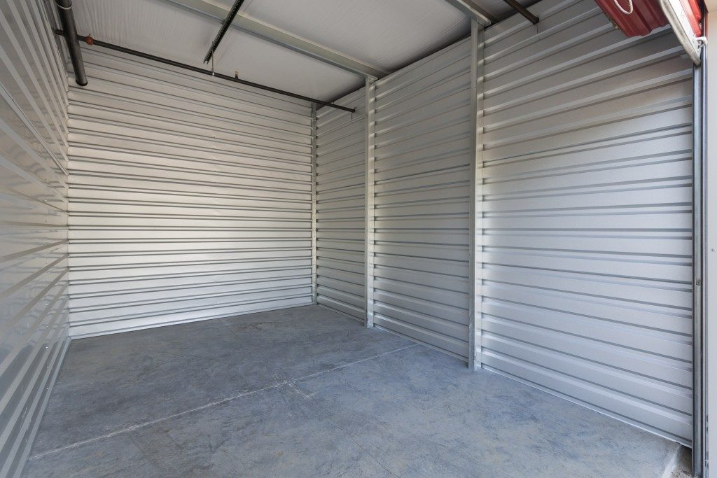 empty storage unit
