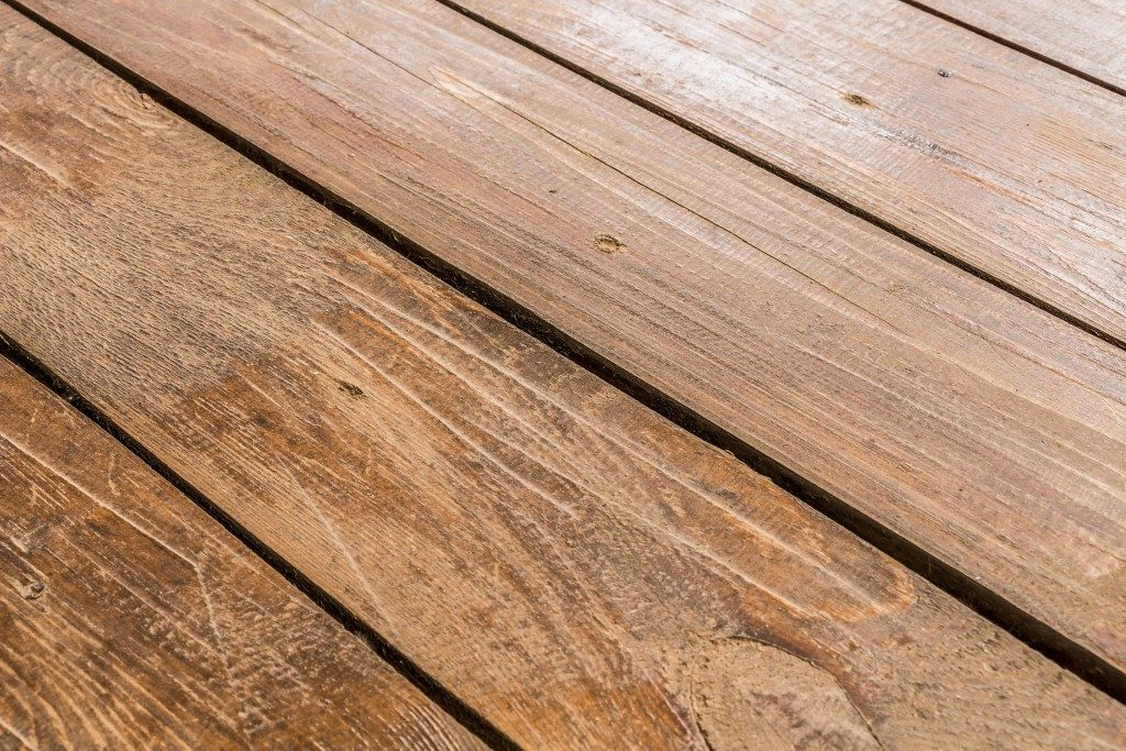 Damaged wooden floor