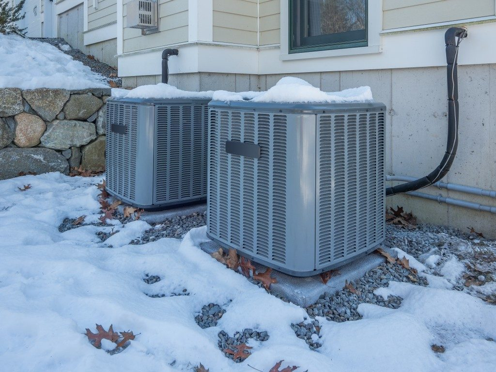 HVAC system outside the house