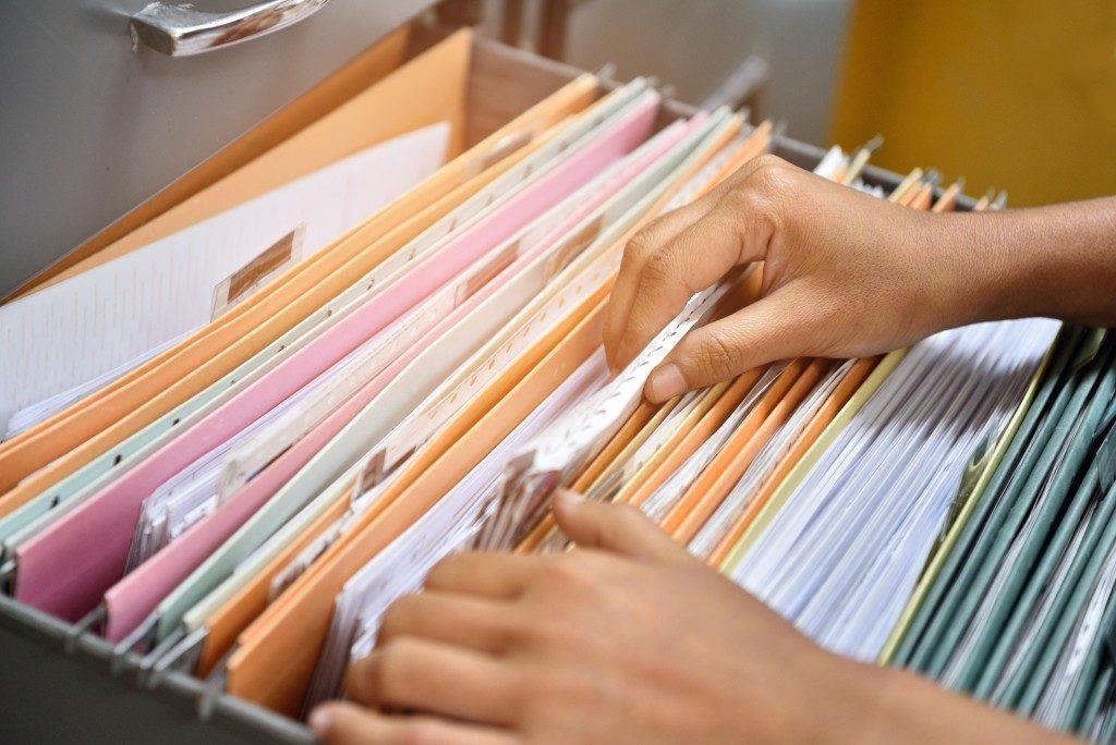files in a box