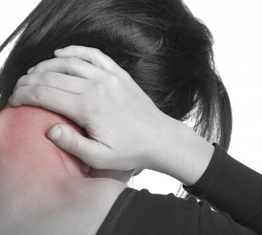 Neck pain concept