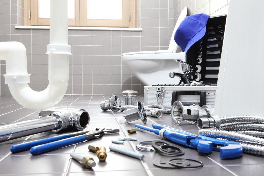 Plumbing materials and tools