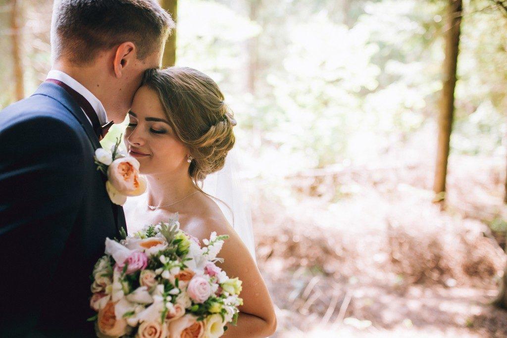 Bride and groom in a wedding concept