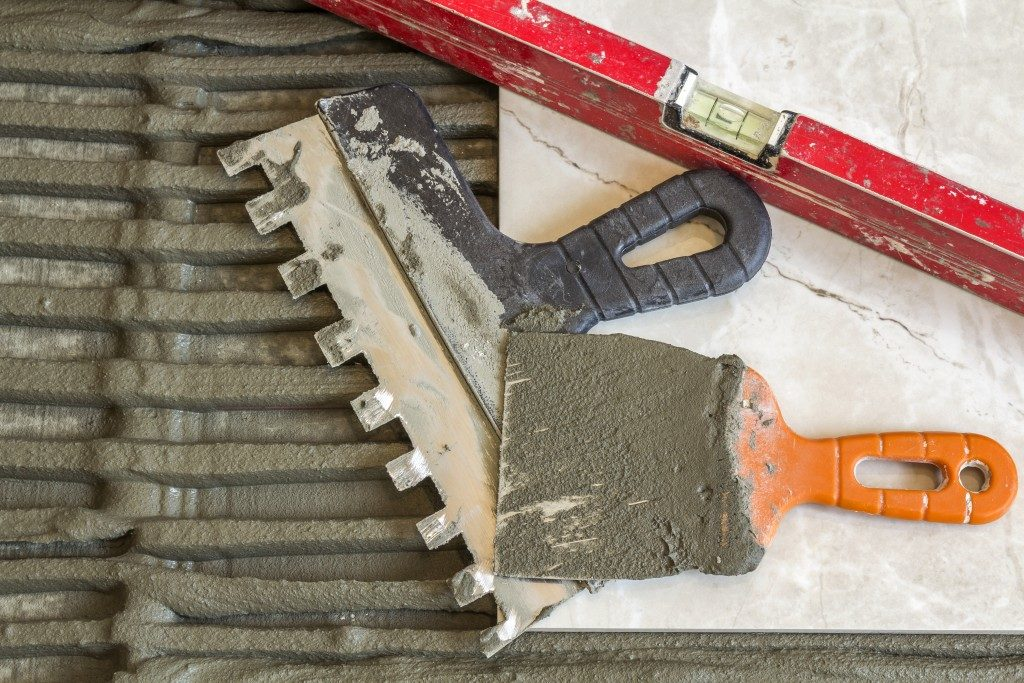 concrete and construction tools