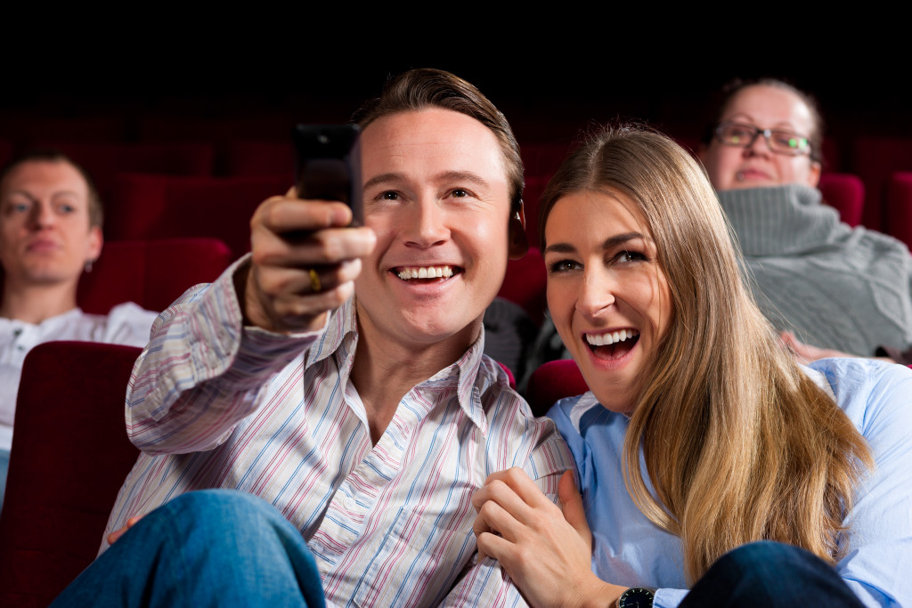 couple watching movies