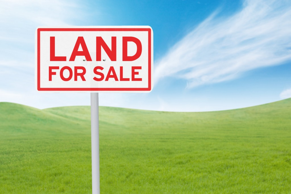 Land for sale sign