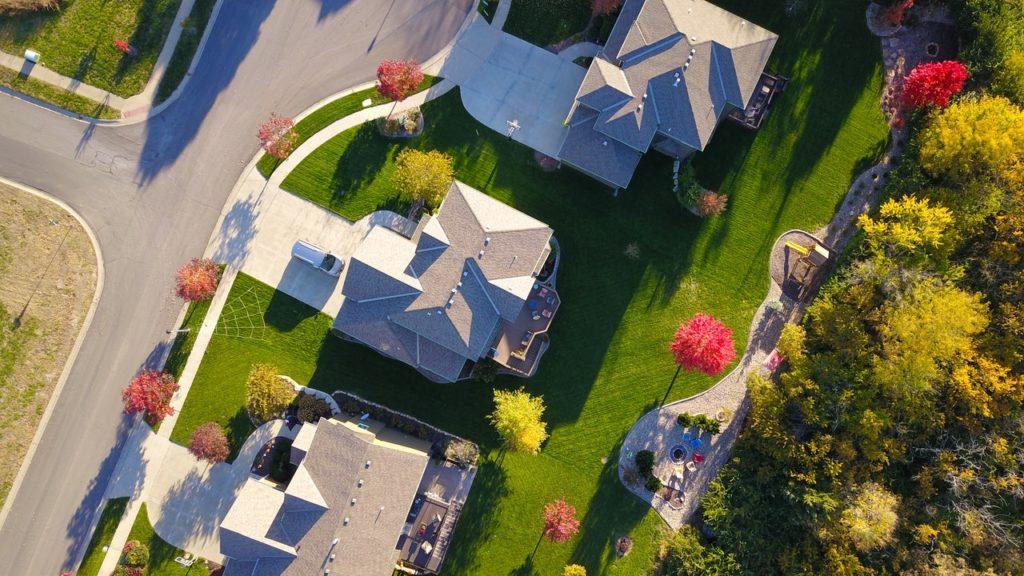 neighborhood viewed from above