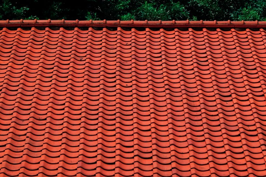clean roof of a house