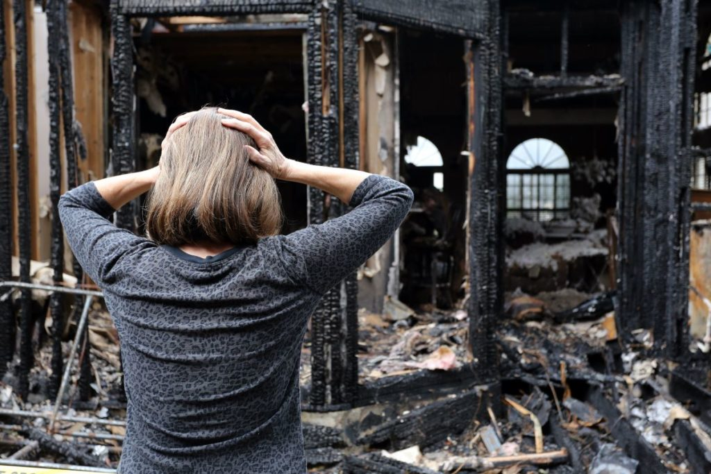 woman devastated after house is burnt down
