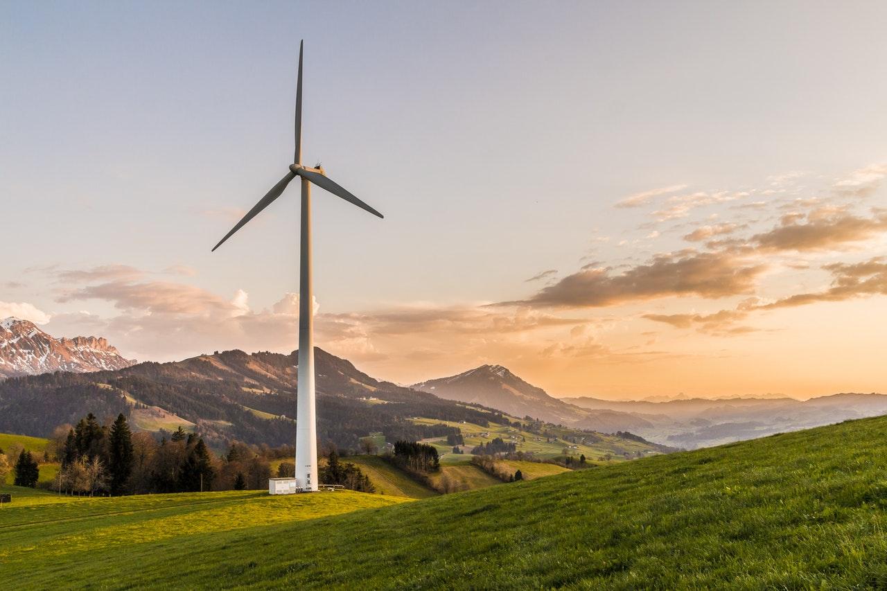 windmill on a hill