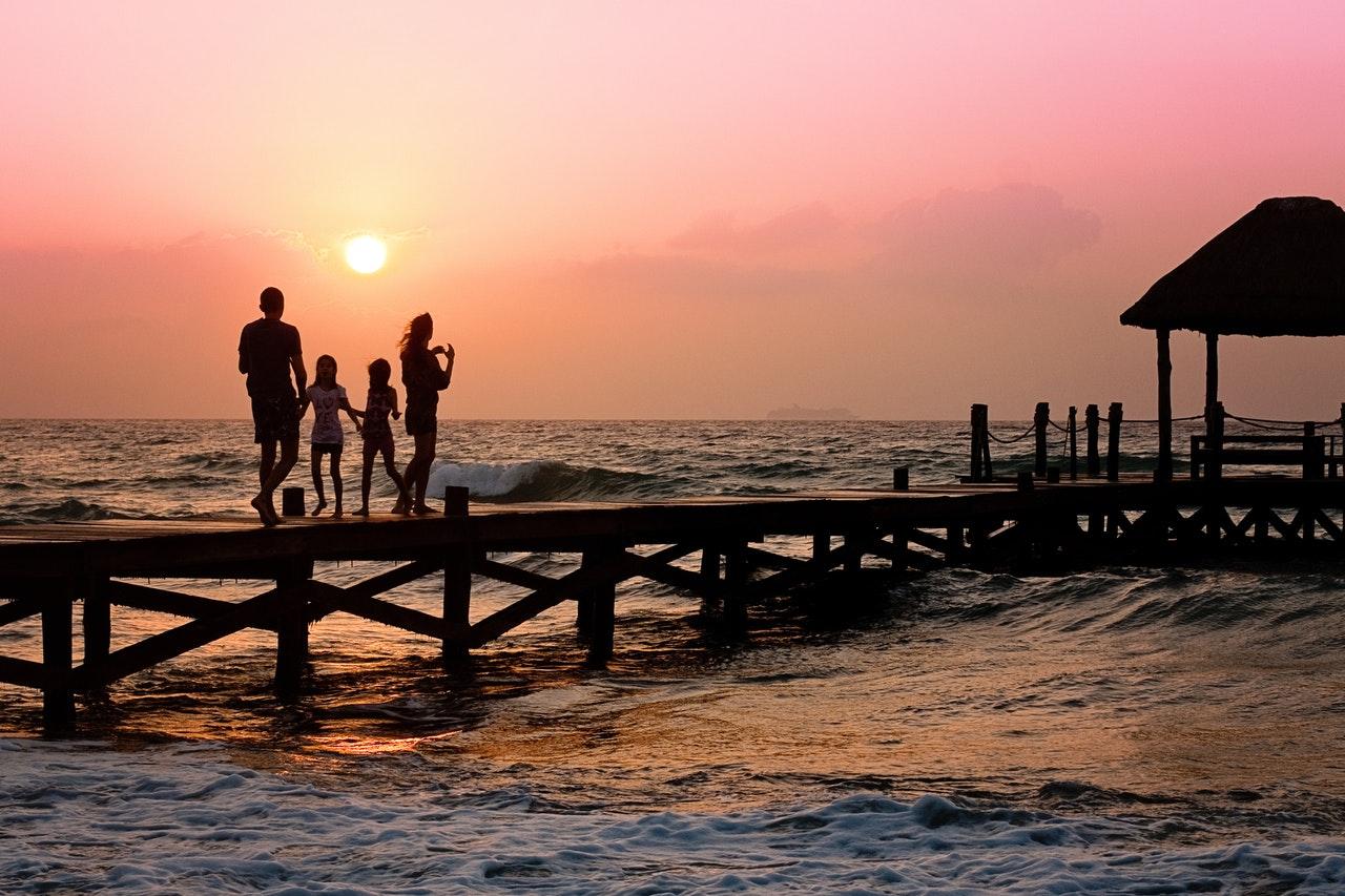 family on the docks