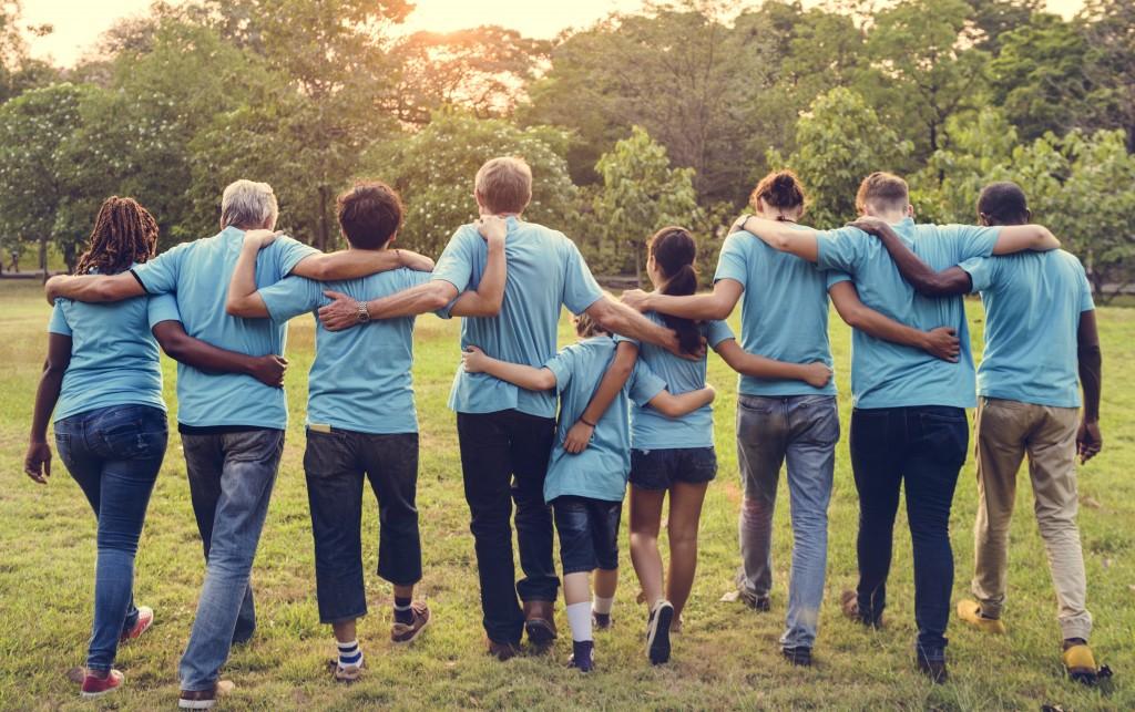 volunteers concept