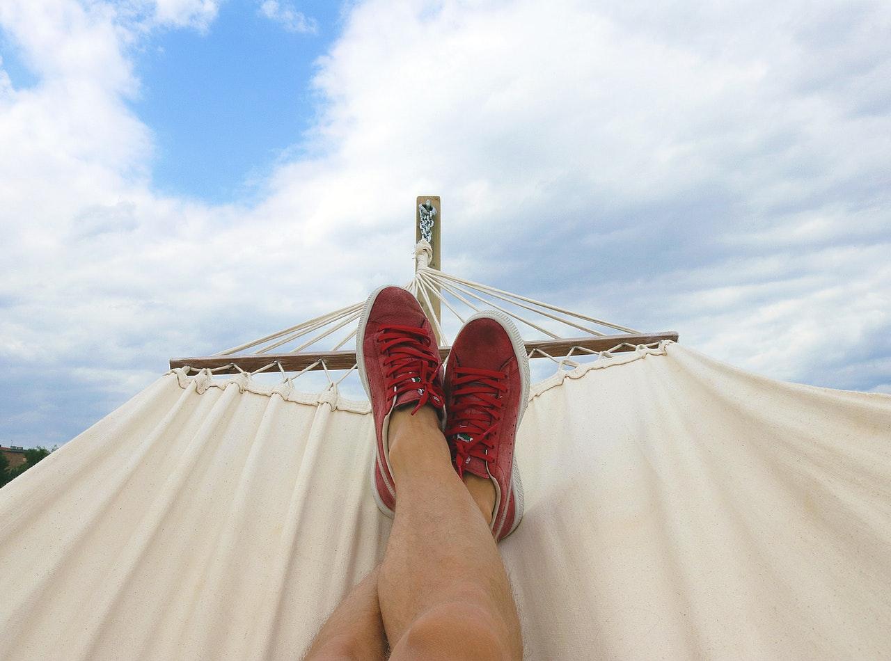 feet up on hammock