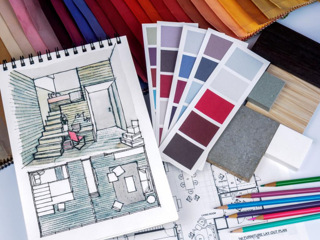 sketch of interior design
