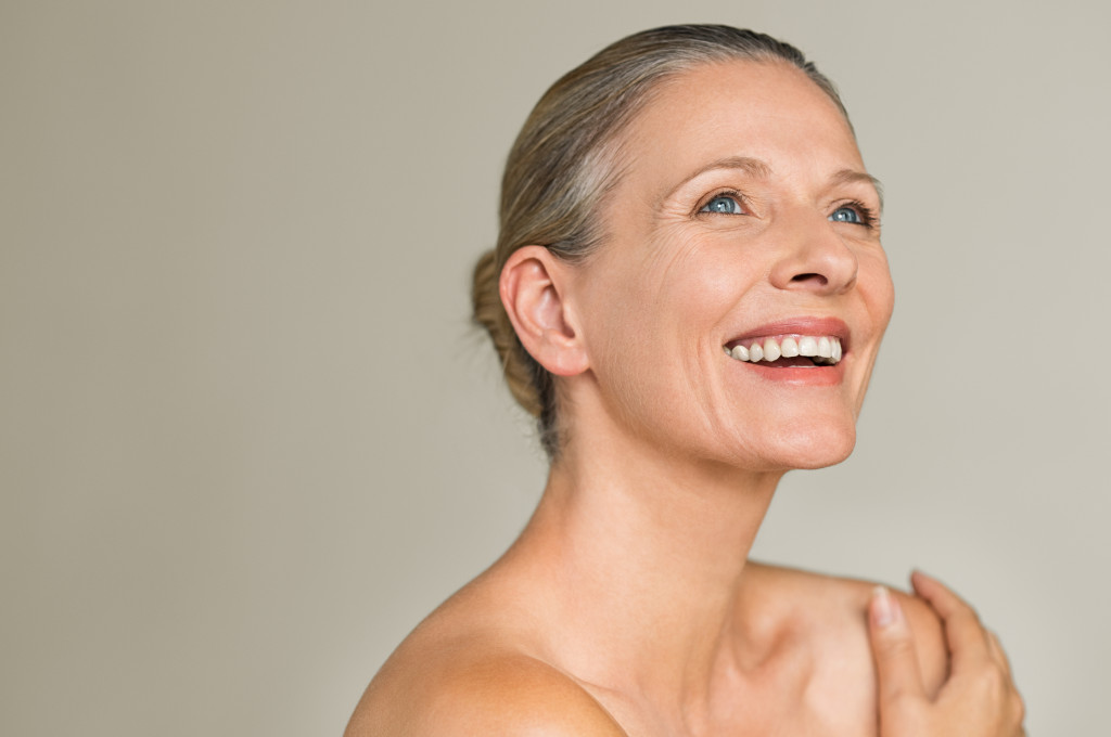 woman with aging skin