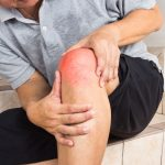 elderly person with knee pain